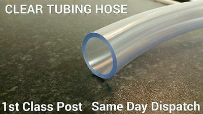 PVC Tube Clear FLEXIBLE Plastic Hose Pipe - Fish, Pond, Car, Aquariums, Air line