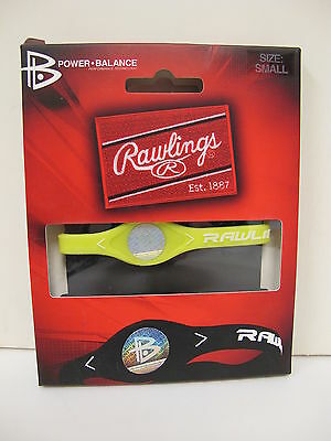 RAWLINGS Silicone Power Balance Technology Bracelet Yellow Small (6.9 inches)