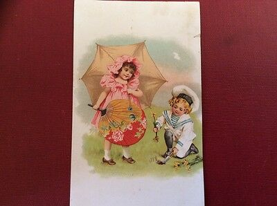Vintage Trade Card For Wright's Indian Vegetable Pill Co., New York