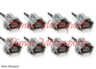 8-Denso Female Fuel Injector Connector Electrical Plug Clip Pigtail