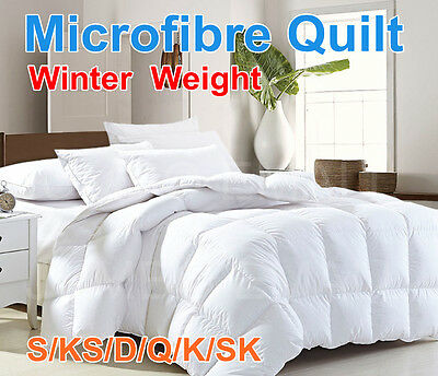 ALL SIZE Microfibre Winter Weight Quilt Duvet Blanket Soft--Promotion Sale