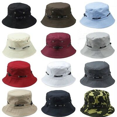 23f1cdcf60d Bucket Hat Boonie Flat Hunting Fishing Outdoor Summer Cap Unisex 100% Cotton  New