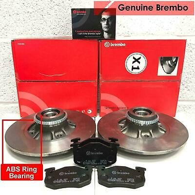 For Renault Clio 2.0 Sport Rear Genuine Brembo Brake Discs Pads + Abs Bearings