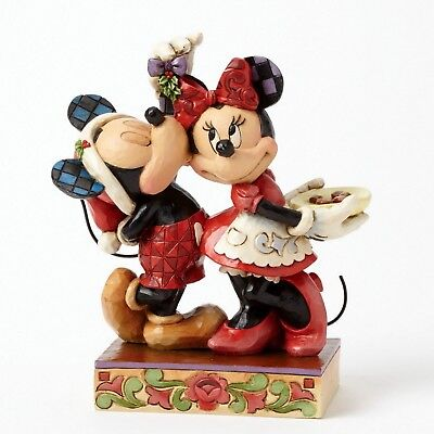 "DISNEY Skulptur  ""Mickey & Minnie - Under the Mistletoe"" Jim Shore Figur 4039039"