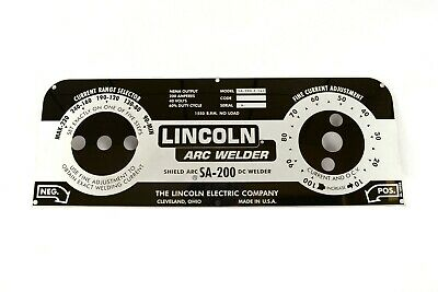 MIRRORED STAINLESS STEEL FACEPLATE Lincoln SA-200 Redface M10926 BW180
