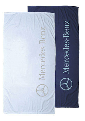 """Mercedes Benz Over-Sized Heavyweight Beach Towel 35"""" x 70"""" avail NAVY or WHITE"""