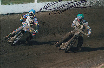 Paul Cooper Hand Signed Scunthorpe Scorpions Speedway 6X4 Photo 3.