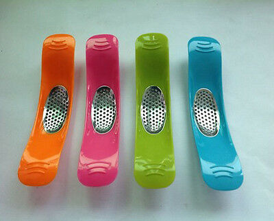 Colourful Easy Mince Rocker Garlic Press Crusher Kitchen Tool