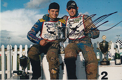 Paul Cooper Hand Signed Scunthorpe Scorpions Speedway 6X4 Photo 7.
