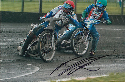 Paul Cooper Hand Signed Scunthorpe Scorpions Speedway 6X4 Photo 14.