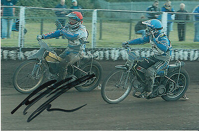Paul Cooper Hand Signed Scunthorpe Scorpions Speedway 6X4 Photo 23.