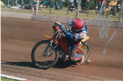 Andrew Tully Hand Signed Scunthorpe Scorpions Speedway 6X4 Photo 3.