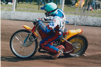 Andrew Tully Hand Signed Scunthorpe Scorpions Speedway 6X4 Photo 5.