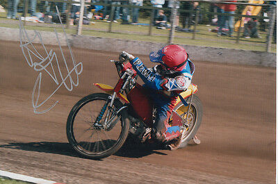 Andrew Tully Hand Signed Scunthorpe Scorpions Speedway 6X4 Photo 7.