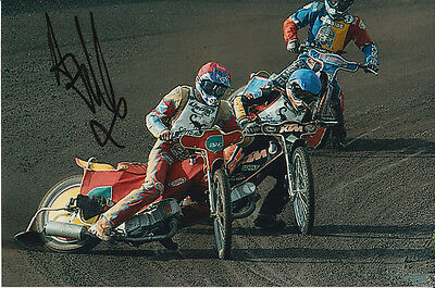 Andrew Tully Hand Signed Scunthorpe Scorpions Speedway 6X4 Photo 9.