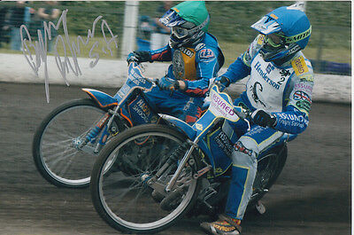 Byron Bekker Hand Signed Scunthorpe Scorpions Speedway 6X4 Photo 3.
