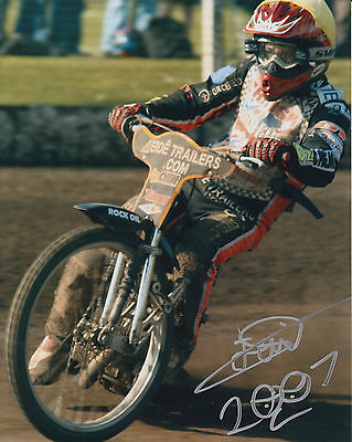 TAI WOFFINDEN HAND SIGNED SCUNTHORPE SCORPIONS 10x8 PHOTO SPEEDWAY.