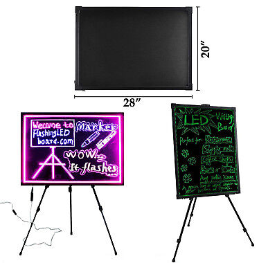 32''x24'' Flashing Illuminated Fluorescent LED Writing Board with Tripod Stand