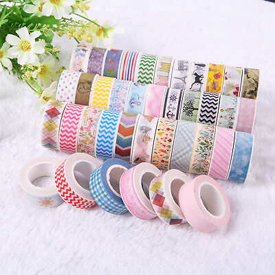 5pcs/lot 1.5cm×10M DIY paper Sticky Adhesive Sticker Decorative Washi Tape
