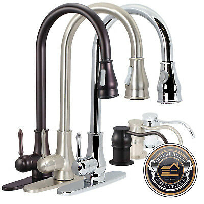 "18"" Pull Down Kitchen Sink Faucet with Soap Dispenser"