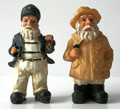 "Nautical SEA CAPTAIN Figurines - 4"" - Set of 2 -  Young's - NEW!"
