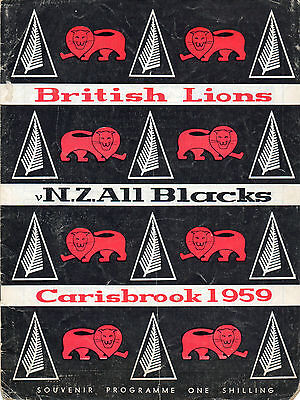 1959 - British Isles v New Zealand - 1st Test, Rugby Union Programme.