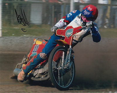 ANDREW TULLY HAND SIGNED SCUNTHORPE SCORPIONS 10x8 PHOTO SPEEDWAY 1.