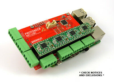 Raspberry Pi CNC Hat V2.60 - GRBL v1.1 Compatable - Uses Pololu Stepper Drivers