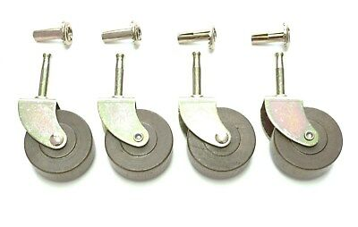 """4 Lot Wooden Casters Wood Caster Extra  Large Antique Style  With Inserts 2"""""""