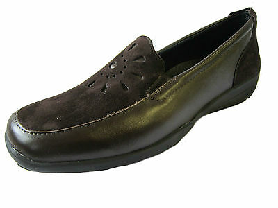 "Ladies Easy B Brown Leather Shoes ""strixton""/78320B"
