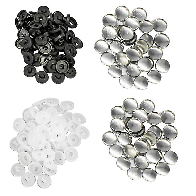 100 Sets button blanks for cover buttons in various sizes quality plastic backs
