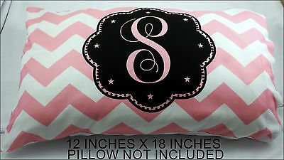 New Small Travel Pillow Case Personalized Chevron Printed One Letter  Monogram