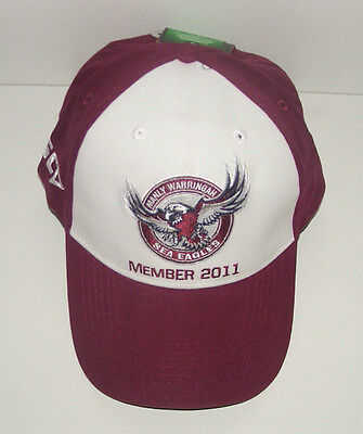 Nrl Manly Sea Eagles Licensed Team Supporter Hat Cap - Rugby League Football New