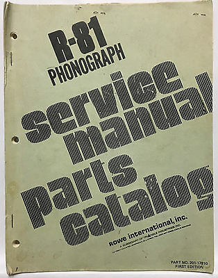 Jukebox Manual Rowe R-81 Service Manual & Parts Catalog