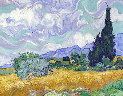 Wheat Field With Cypresses by Vincent Van Gogh, Oil Painting Canvas Reproduction