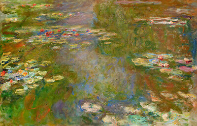 Water Lilies by Claude Monet, Handmade Oil Painting Reproduction on Canvas