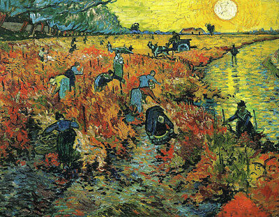 The Red Vineyard by Vincent Van Gogh, Oil Painting Art Reproduction on Canvas