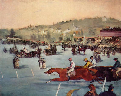 The Races In The Bois De Boulogne by Edouard Manet, Oil Painting Reproduction