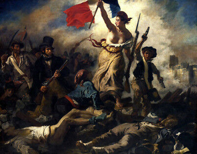 The Liberty Leading The People by Eugene Delacroix, Oil Painting Reproduction