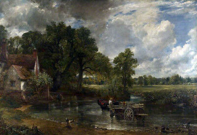 "The Hay Wain by John Constable, Handmade Oil Painting Reproduction, 36"" x 24"""
