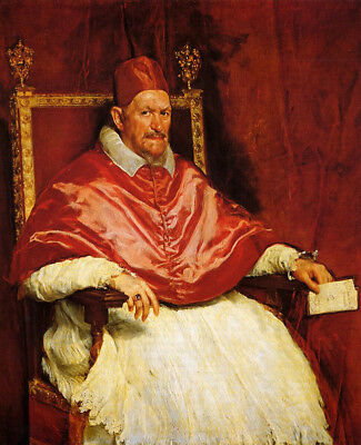 Portrait Of Pope Innocent X by Diego Velazquez, Oil Painting Art Reproduction