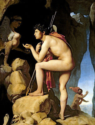 Oedipus & The Sphinx by Jean Auguste Dominique Ingres, Oil Painting Reproduction