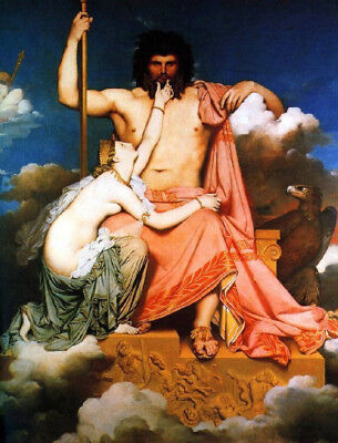 Jupiter And Thetis by Jean Auguste Dominique Ingres, Oil Painting Reproduction