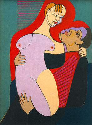 """Great Lovers by Ernst Ludwig Kirchner, Oil Painting Art Reproduction, 24"""" x 34"""""""