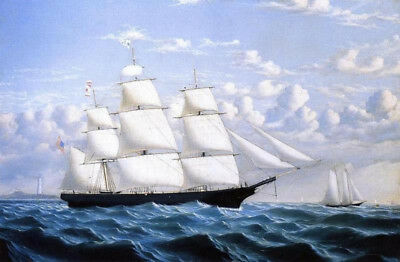 Clipper Ship Northern Light Of Boston by William Bradford, Painting Reproduction