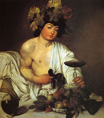 Bacchus by Caravaggio, 100% Hand Painted Oil Painting Reproduction on Canvas
