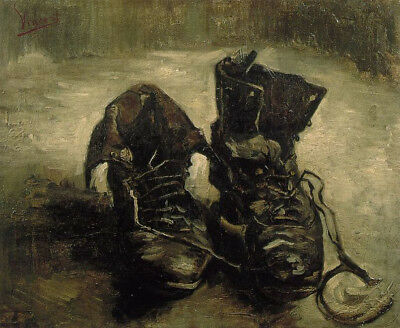 A Pair Of Shoes by Vincent Van Gogh, Handmade Oil Painting Canvas Reproduction