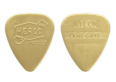 50 HERCO FLEX 75 GUITAR PICKS JIMMY PAGE LED ZEPPELIN SILVER NYLON HEAVY 50 pack