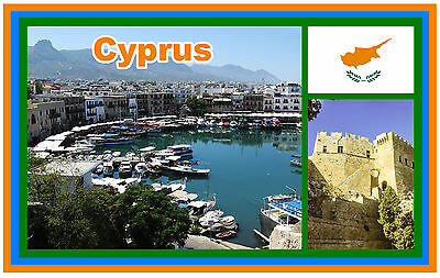 Cyprus - Souvenir Novelty Fridge Magnet - New - *see Our Special Offer*
