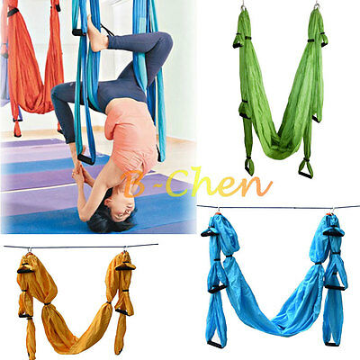 Pilates Sling Aerial Yoga Hammock Flying Swing Trapeze Anti-Gravity Fitness